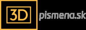 www.3Dpismena.sk logo