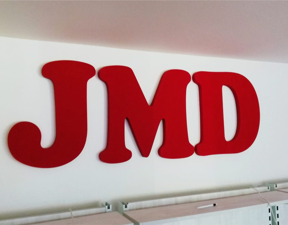 3D logo JMD www.3Dpismena.sk