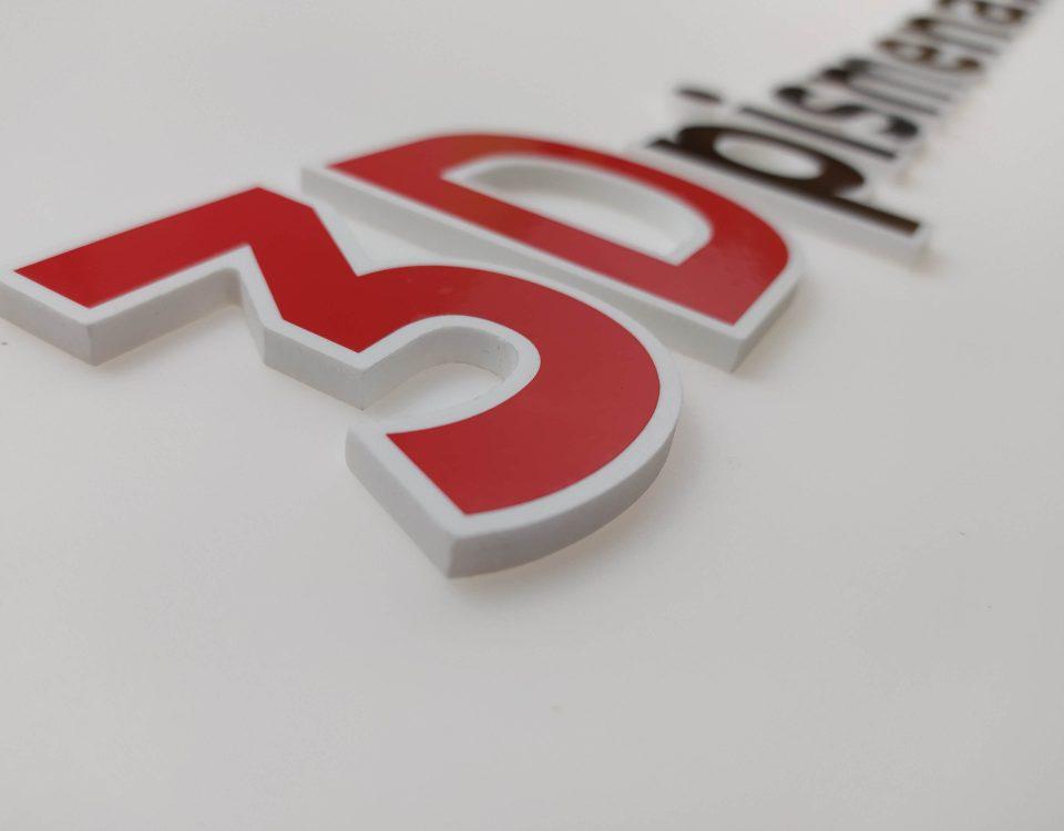 3D reklama 3D logo z PVC